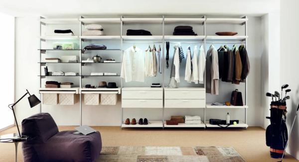 luxuriöse-Kleiderschränke-begehbar-Wohnidee