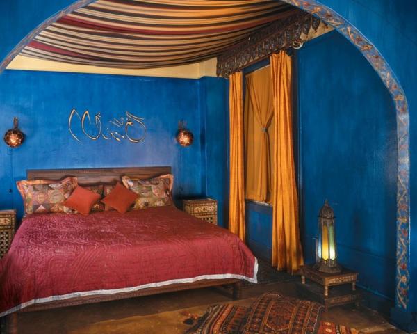 marokkanische-möbel-bett-im-schlafzimmer