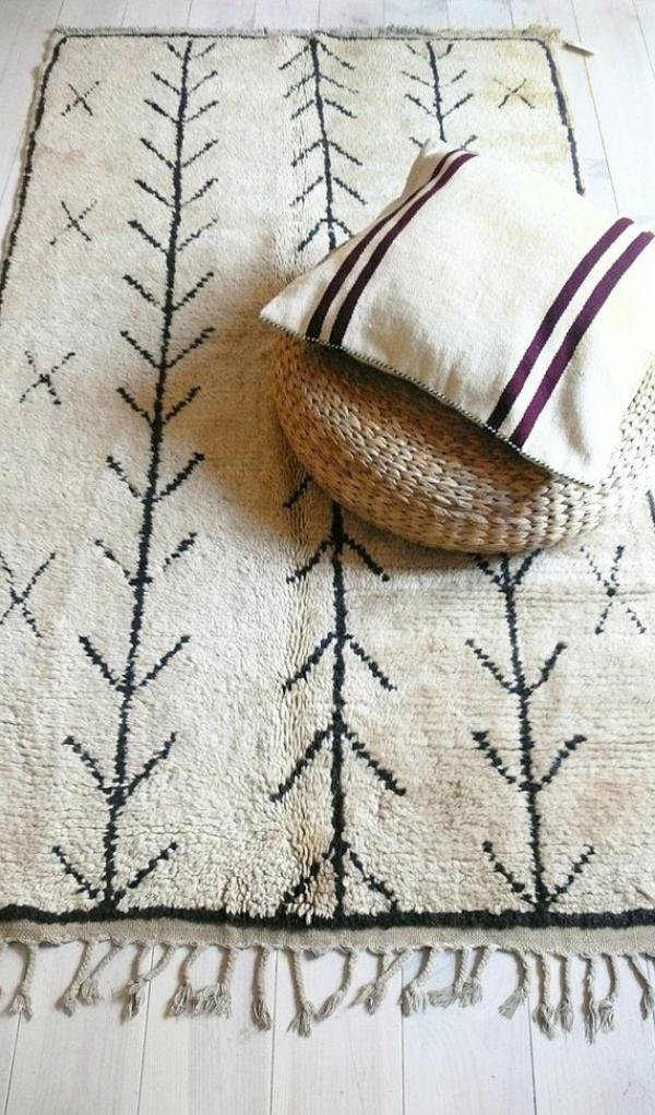 marokkanische-teppiche-weiß-und-schön