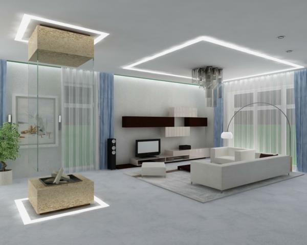 Wohnzimmer beleuchtung modern wohnzimmerbeleuchtung for Modernes haus wohnzimmer