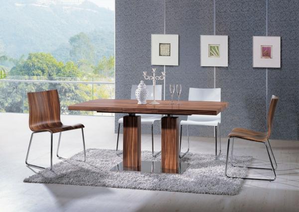 moderne-Esszimmerstühle-aus-Holz-in-origineller-Form-