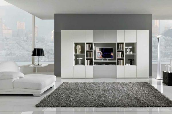 moderne farben fr das schlafzimmer grau wei - Wohnzimmer Farben Grau