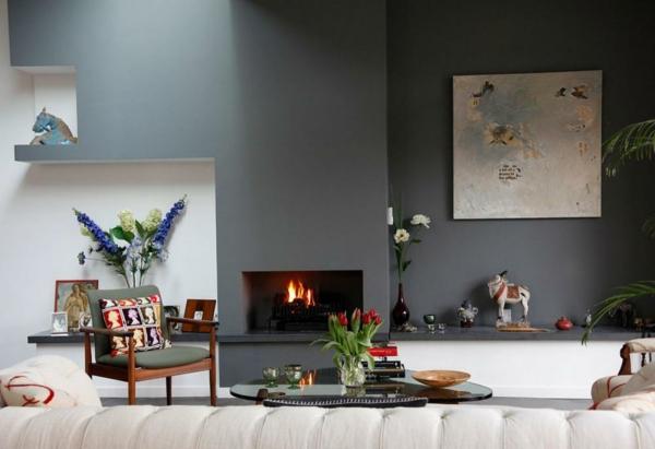 moderne wandfarben - 40 trendige beispiele! - archzine, Wohnideen design