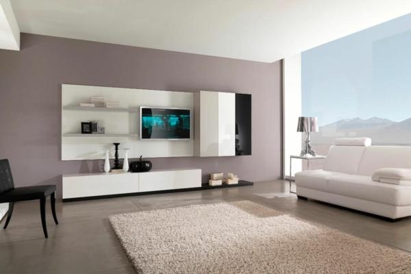 grau grünes wohnzimmer:Moderne Wandfarben – 40 trendige Beispiele!