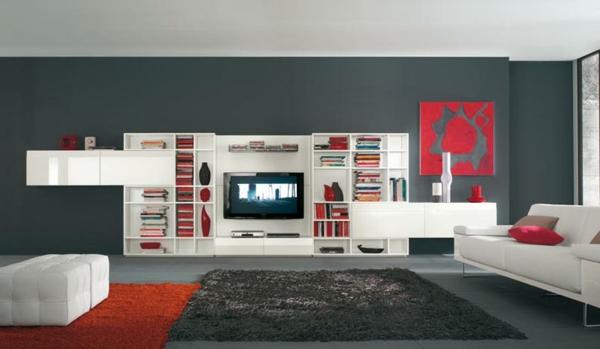 moderne-Farben-für-das-Wohnzimmer-weiß-schwarz