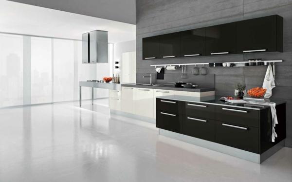 moderne-Küchenplanung- Interior-Design-Ideen-Schwarz-Weiß