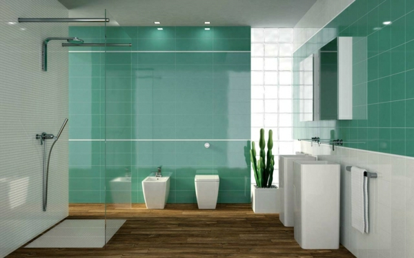 moderne-badezimmer-fliesen--ideen-fr-farbenreiche-badgestaltung-grün