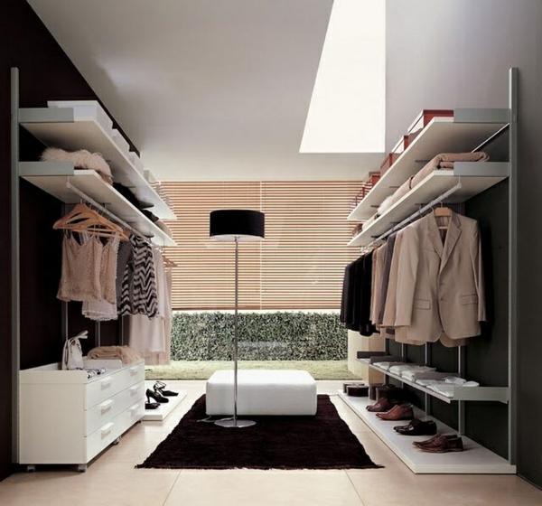 moderne-begehbare-Kleiderschränke-in-Weiß-Luxus begehbarer Kleiderschrank