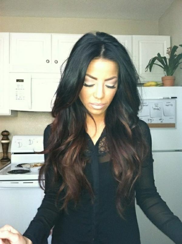 Frisuren langes haar dunkel