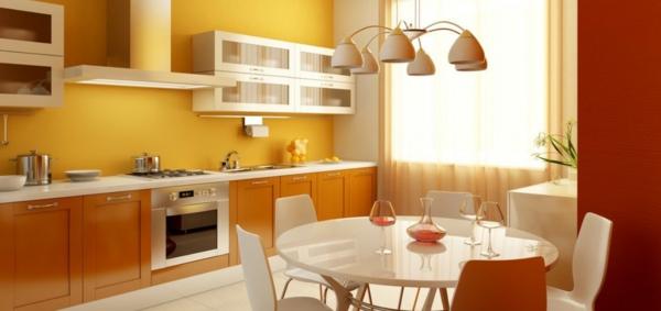 moderne-gelbe-küchen-wandfarbe-segr-schön