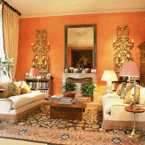 ... In Erdtönen – Wohnzimmer In Braun farbgestaltung wohnzimmer orange