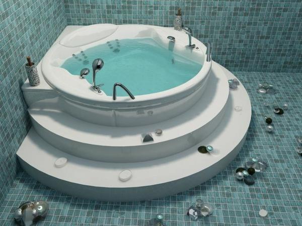 moderner-runder-Jacuzzi-im-Badezimmer