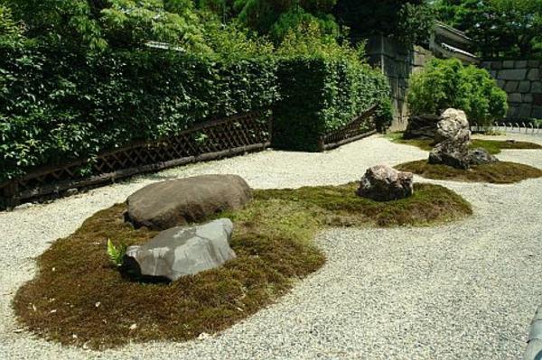 Moderner Steingarten Elegante Formen