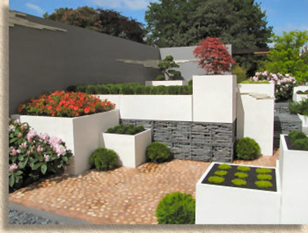 100 unglaubliche bilder moderner steingarten for Graue steine vorgarten