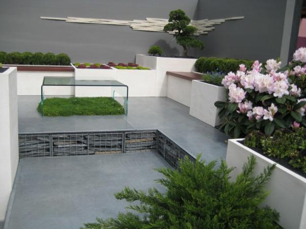 100 unglaubliche bilder moderner steingarten for Vorgarten minimalistisch