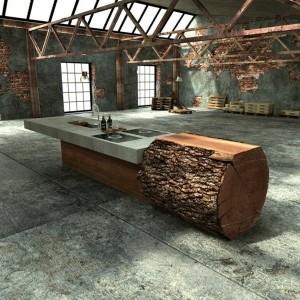 Baumstamm Tisch - super originelle Designs!