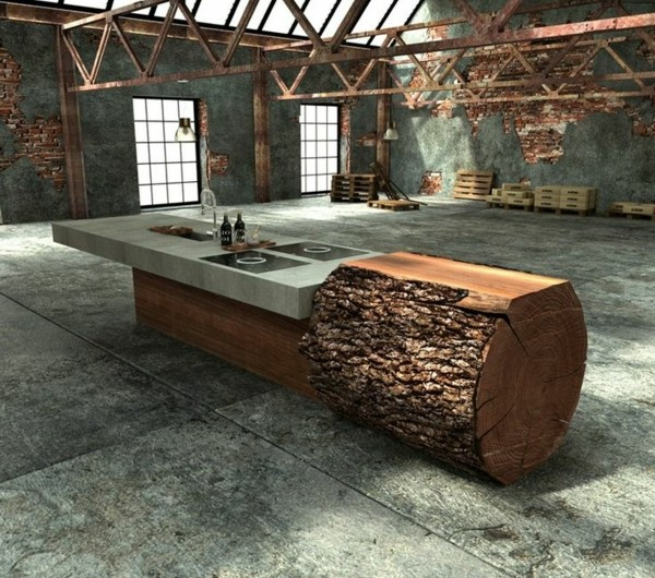 tisch baumstamm stunning tree stump table il xn o side baumstamm slab tisch hocker holz ceppo. Black Bedroom Furniture Sets. Home Design Ideas