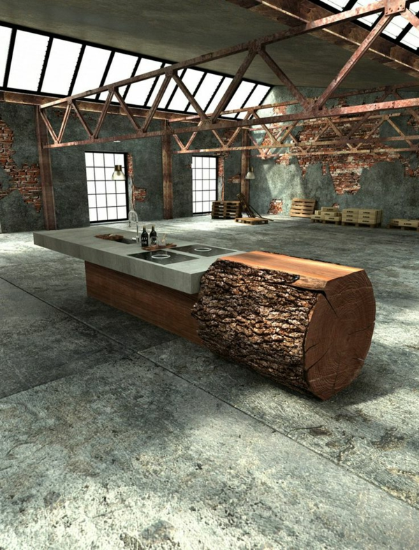 Baumstamm tisch super originelle designs - Baumstamm mobel ...