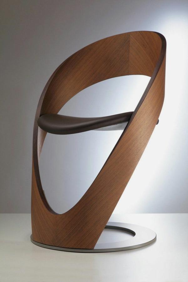 -modernes-Design-für-einen- designer-Stuhl-Holz