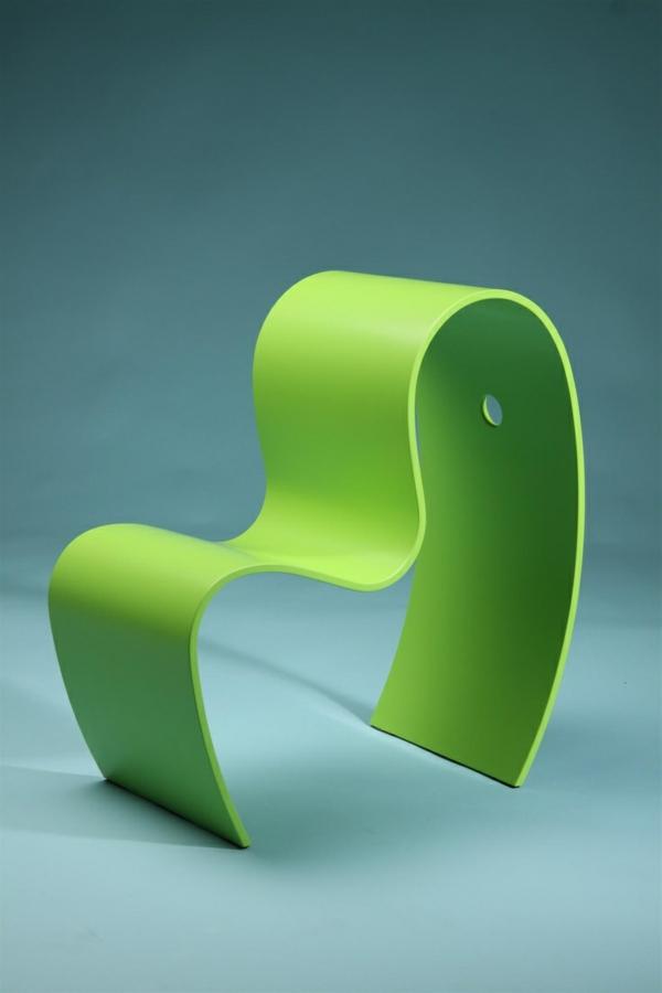 modernes-Design-für-einen- designer-Stuhl-in-Grün-Idee