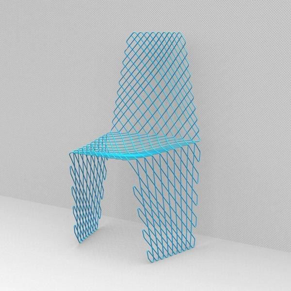 -modernes-Design-für-einen- designer-Stuhl-in-Hellblau