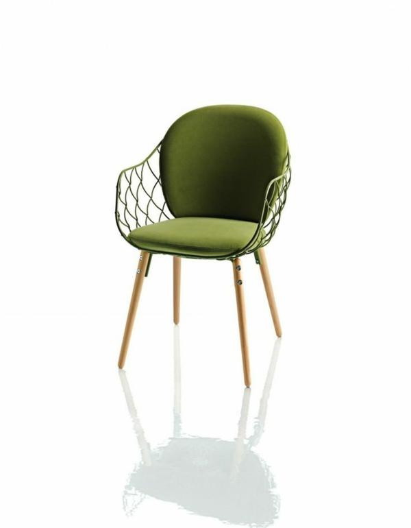 modernes-Design-für-einen- designer-Stuhl-in-Olivgrün
