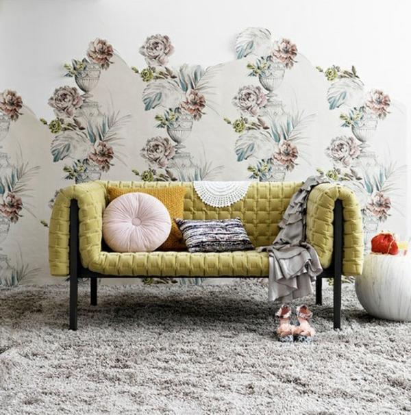 modernes-Interior-Design-kreative-Wandgestaltung--Tapete