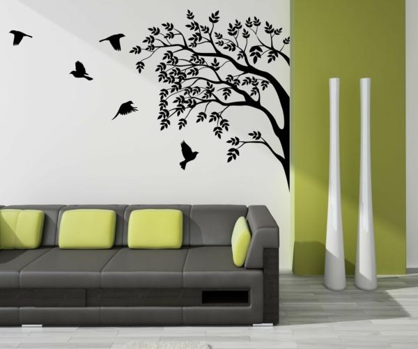 100 beispiele f r eine tolle wandgestaltung - Wandbild altrosa ...