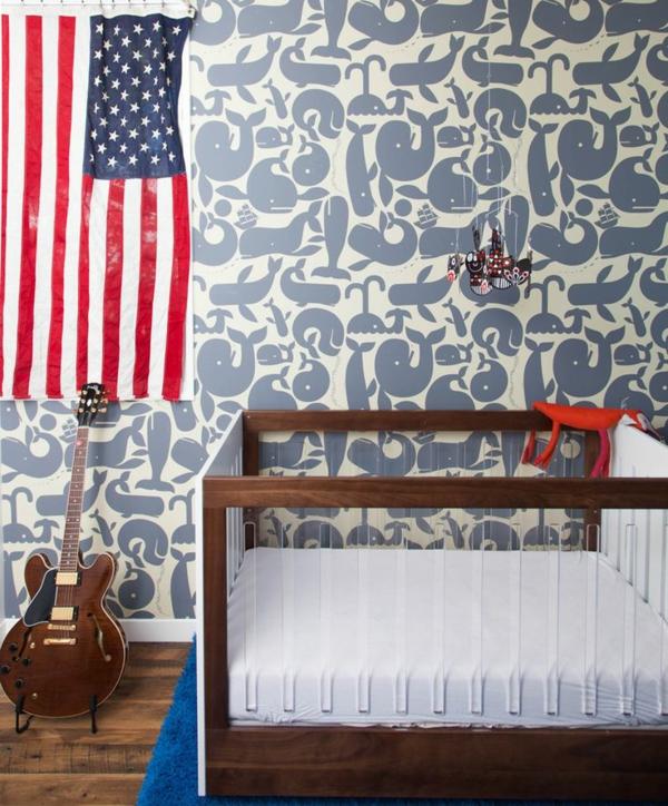 modernes-Interior-Design-wunderbare-Wandgestaltung-Babyzimmer