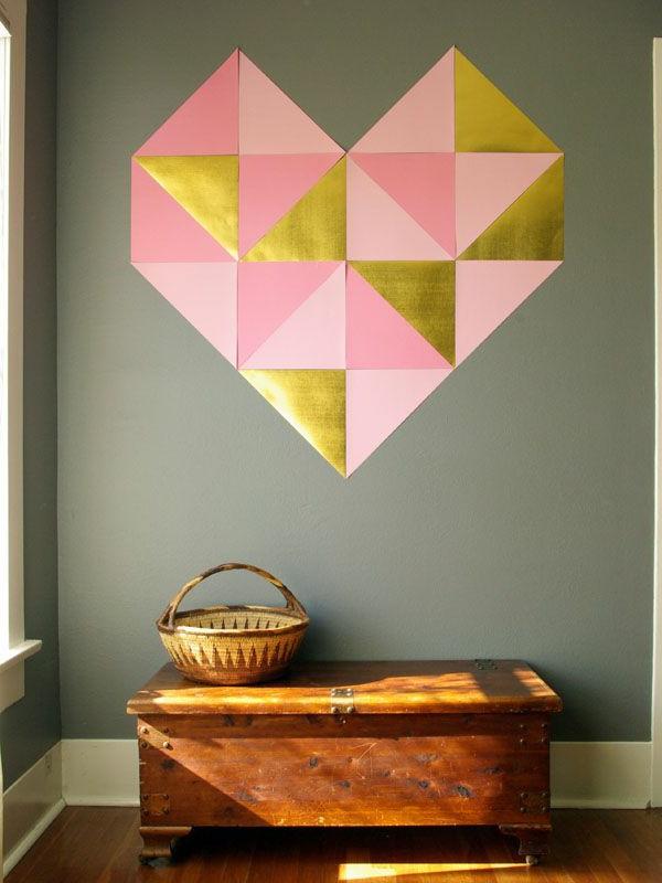 modernes-Interior-Design-wunderbare-Wandgestaltung-Herz