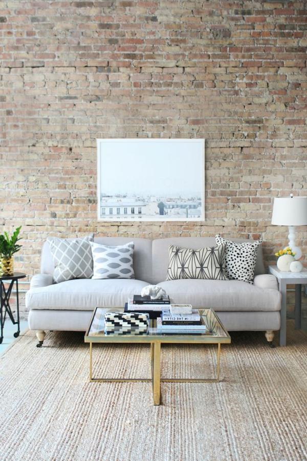 Modernes Interior Design Wunderbare Wandgestaltung Steinoptik