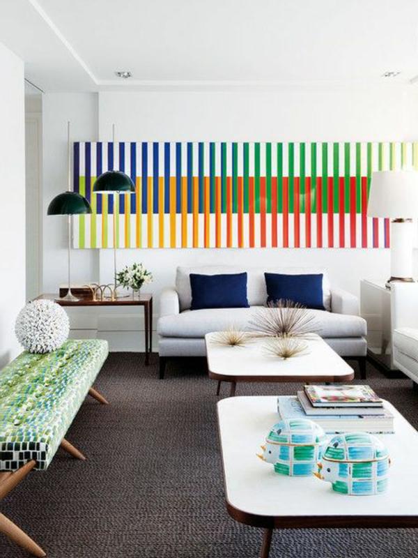 Schlafzimmer Ideen Wandgestaltung Drei Farben ~ Raum Haus Mit, Wohnzimmer  Design