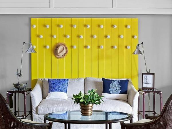 modernes-Interior-Design-wunderbare-Wandgestaltung-gelbe-Wand