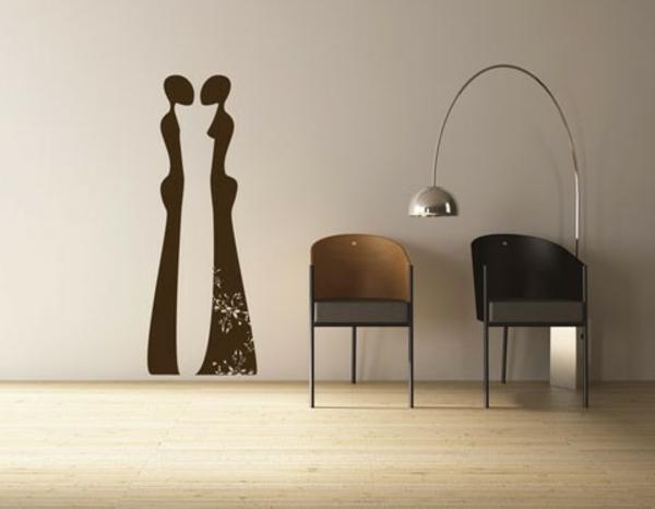 modernes-Interior-Design-wunderbare-Wandgestaltung-originelle-.Wandbild