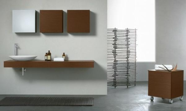 Schön Modernes Schönes Elegantes Badezimmer Mit Einem Designer Badspiegel