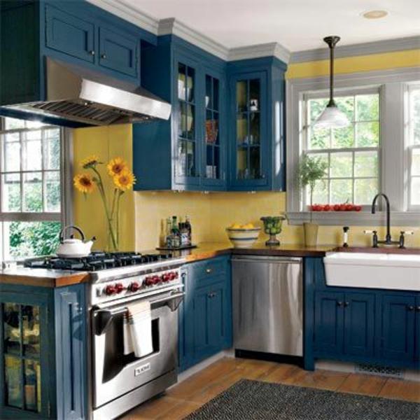 Neue Küchenideen Blaue Farbe Sehr Schön
