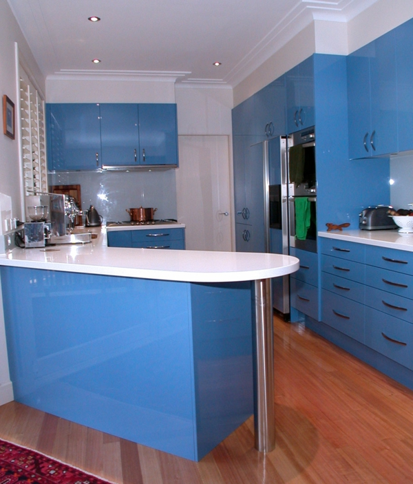 Neue küchenideen blaues cooles modell