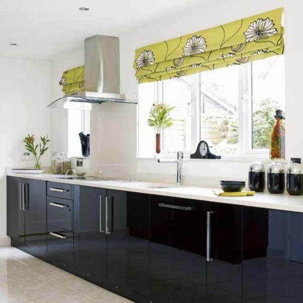 Neue küchenideen kontrastierende farben kombinieren