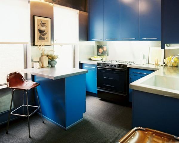 Neue küchenideen interessanter look in blau