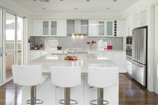 90 Neue Küchenideen: Weiß Und Schwarz | Küche ...