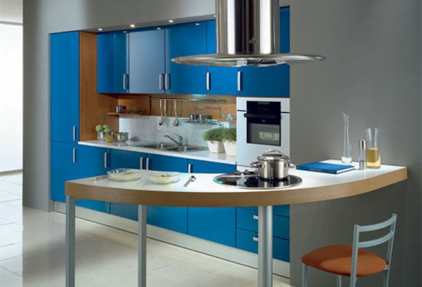 Neue Küchenideen Schöne Blaue Farbe