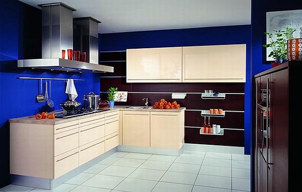 Neue küchenideen blau und schwarz kombinieren
