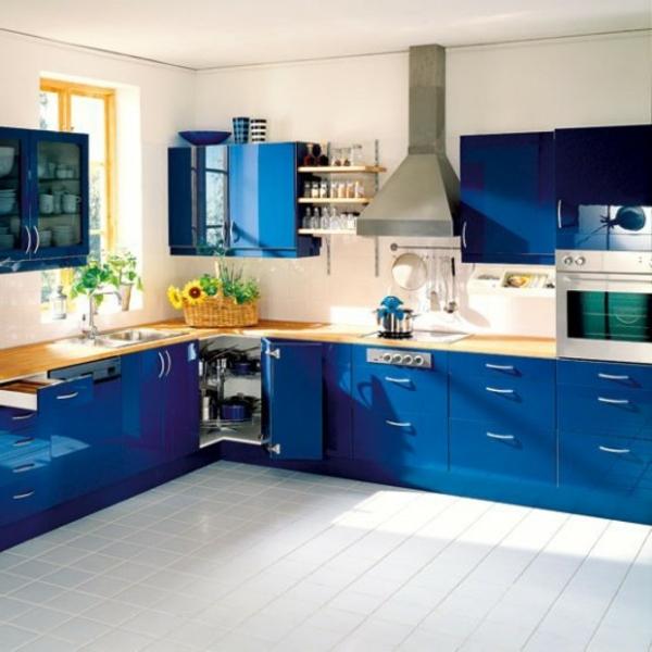 160 Neue Küchenideen: Blaue Und Grüne Farbe - Archzine.net Hellblaue Kche Welche Wandfarbe
