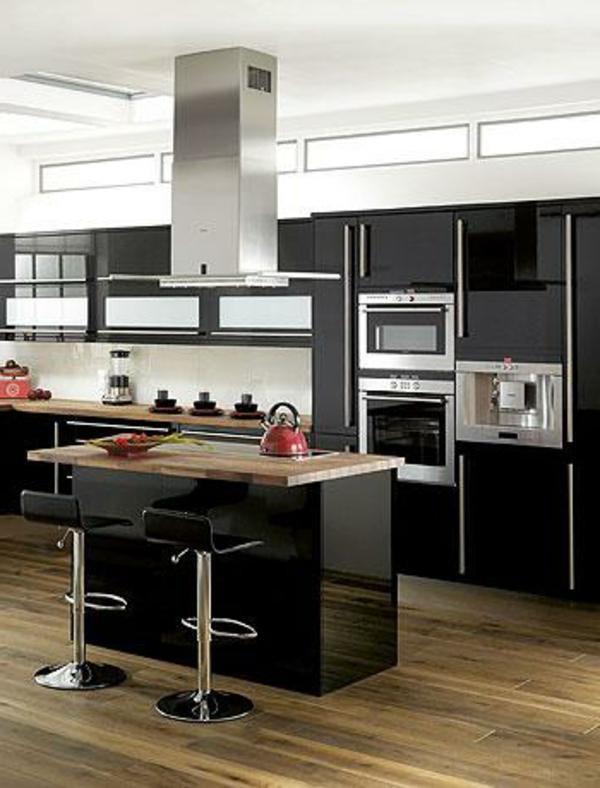 90 neue k chenideen wei und schwarz - Moderne kuche mit wohnzimmer ...