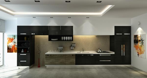 90 neue küchenideen: weiß und schwarz - archzine.net - Große Küche