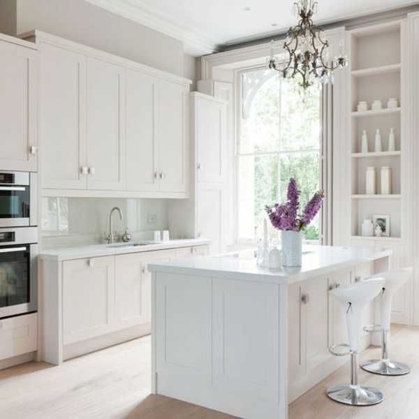 Neue küchenideen wunderschönes weißes modell