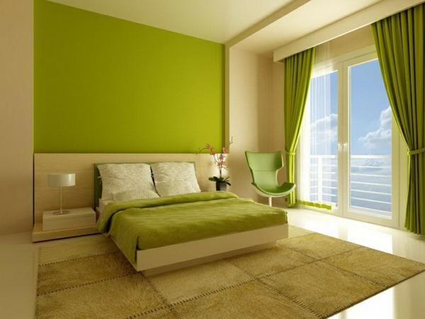 olivgrün-Wandfarben-modern-Interior-Design-Schlafzimmer-in-Grün