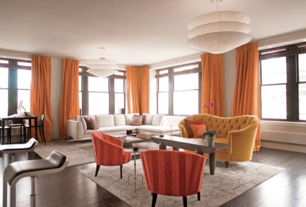 farbgestaltung wohnzimmer orange:orange-farbgestaltung-im-wohnzimmer ...