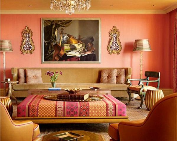 orange-farbgestaltung-im-wohnzimmer-super-zimmer