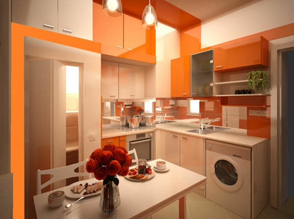 orange-küchen-wandfarbe-modern-und-schön